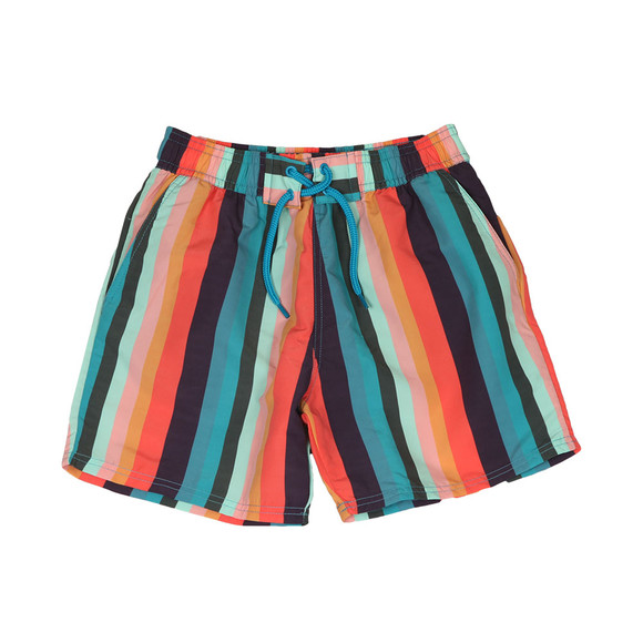 Paul Smith Junior Boys Blue Multi Stripe Swim Shorts main image
