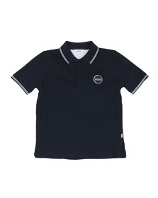 BOSS Bodywear Boys Blue J25Y70 Circle Logo Polo Shirt