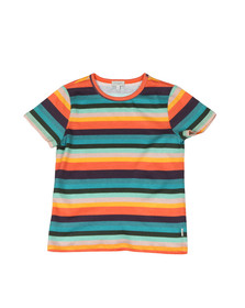 Paul Smith Junior Boys Blue Multi Stripe T Shirt