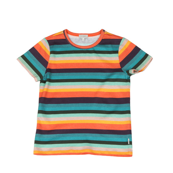 Paul Smith Junior Boys Multicoloured Multi Stripe T Shirt main image