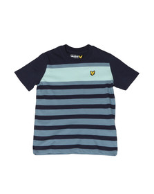 Lyle And Scott Junior Boys Blue Stripe T Shirt