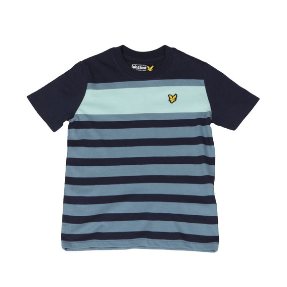 Lyle And Scott Junior Boys Blue Stripe T Shirt main image