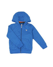 Paul Smith Junior Boys Blue Full Zip Zebra Hoody