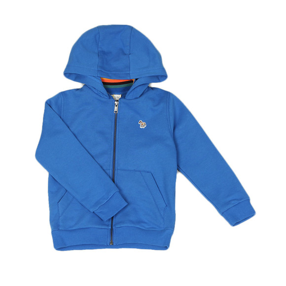 Paul Smith Junior Boys Blue Full Zip Zebra Hoody main image