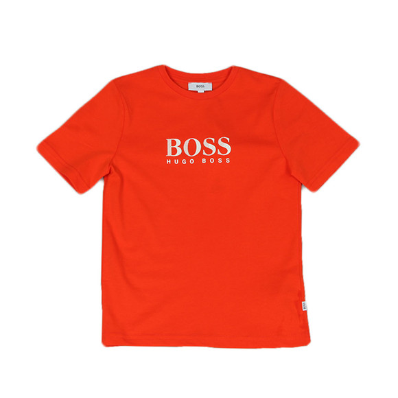 BOSS Boys Orange Boys J25B87 Logo T Shirt main image