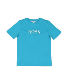 BOSS Boys Blue Boys J25B87 Logo T Shirt