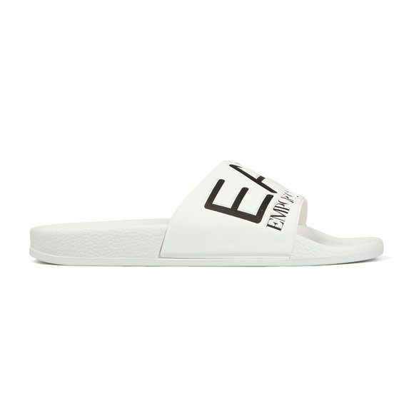 EA7 Emporio Armani Mens White Sea World Slides main image