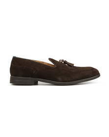 H By Hudson Mens Brown Dickson Suede Loafer