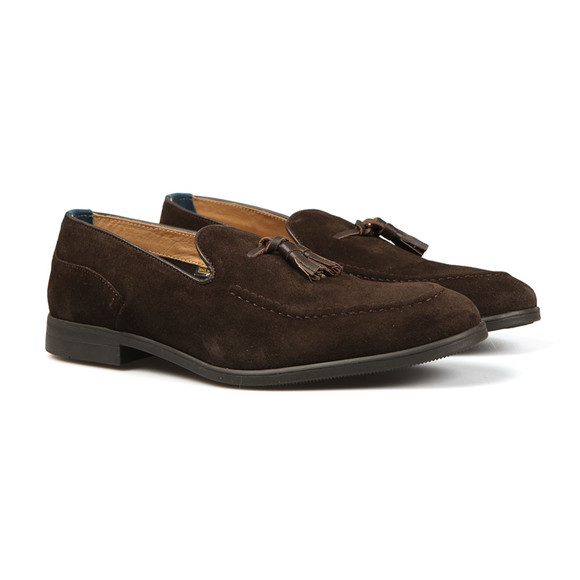H By Hudson Mens Brown Dickson Suede Loafer main image