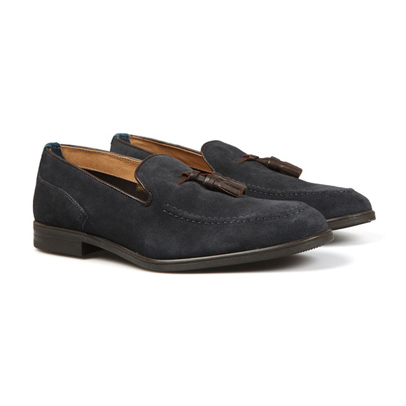 H By Hudson Mens Blue Dickson Suede Loafer main image