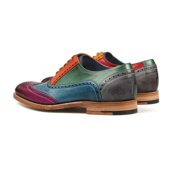 Barker Mens Multicoloured Valiant Hand Painted Shoe main image