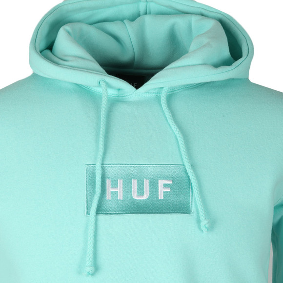 HUF Mens Green Bar Logo Pullover Hoody main image