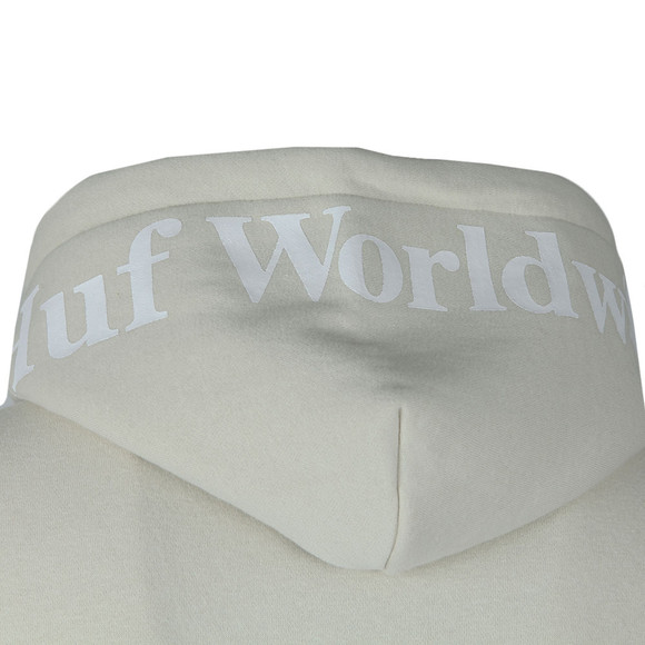 HUF Mens Off-White Outline Box Logo Overhead Hoody main image