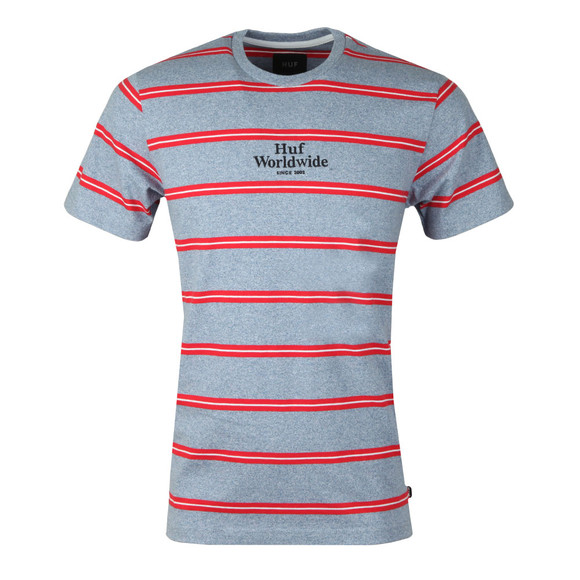 HUF Mens Blue Golden Gate Stripe T Shirt main image