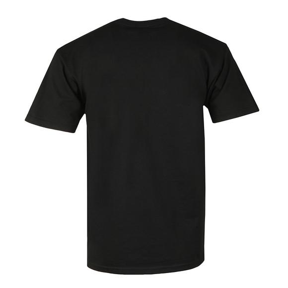 HUF Mens Black OG Logo Ripped T Shirt main image