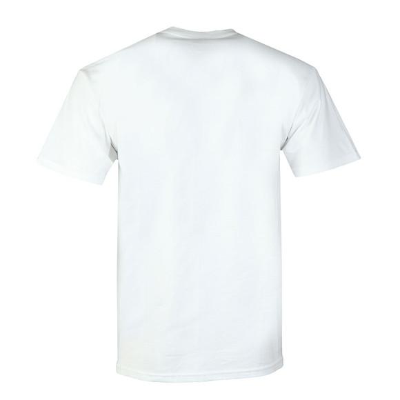 HUF Mens White OG Logo Ripped T Shirt main image