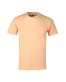 HUF Mens Pink Box Logo Pocket T Shirt