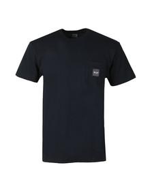 HUF Mens Blue Box Logo Pocket T Shirt