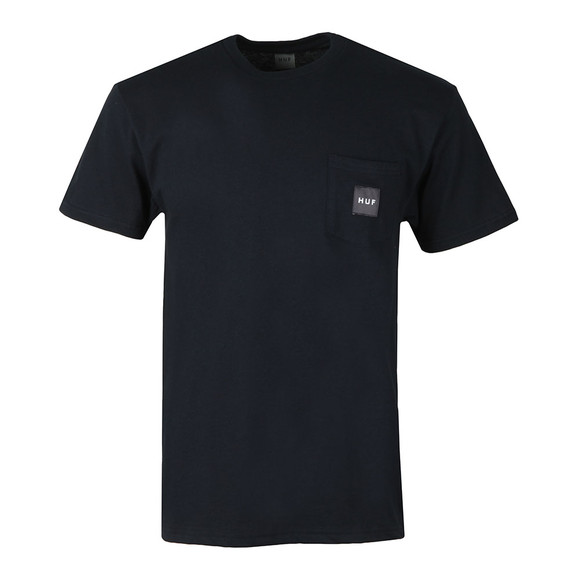 HUF Mens Blue Box Logo Pocket T Shirt main image