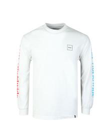 HUF Mens White Domestic Long Sleeve T Shirt
