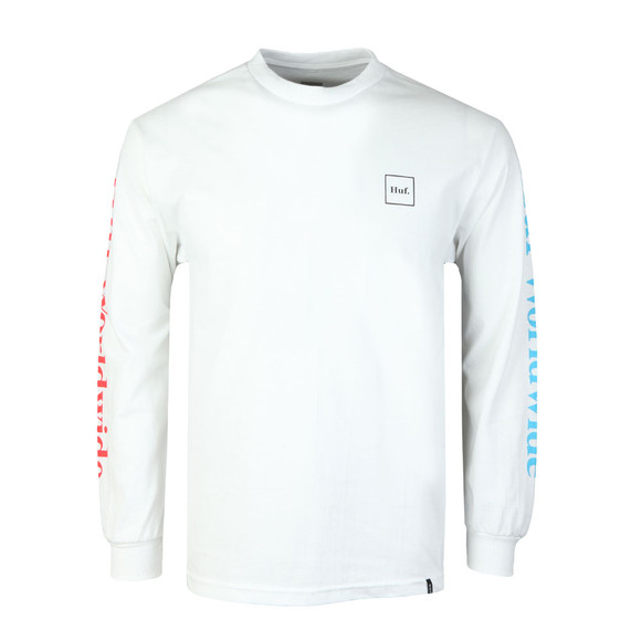 HUF Mens White Domestic Long Sleeve T Shirt main image