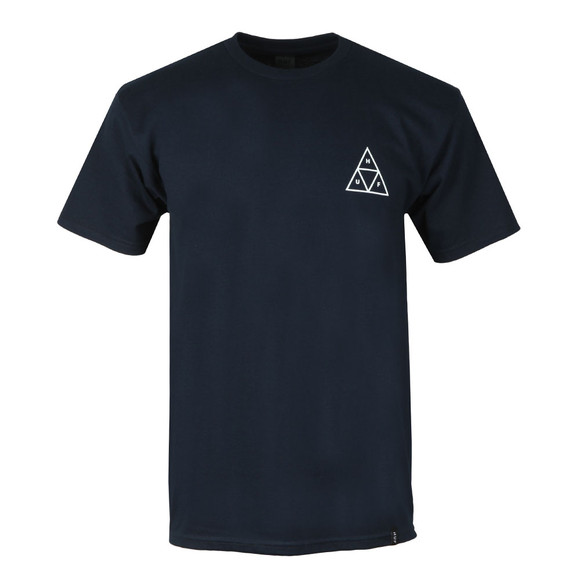 HUF Mens Blue Triple Triangle T Shirt main image