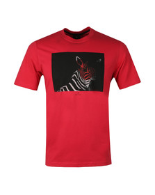 PS Paul Smith Mens Red S/S BW Zebra Tee