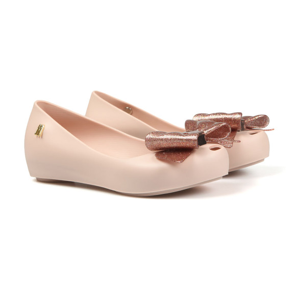 Melissa Girls Pink Girls Ultragirl Bow Shoe main image