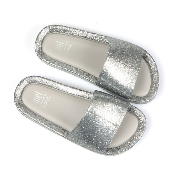 Melissa Girls Silver Beach Slide  main image