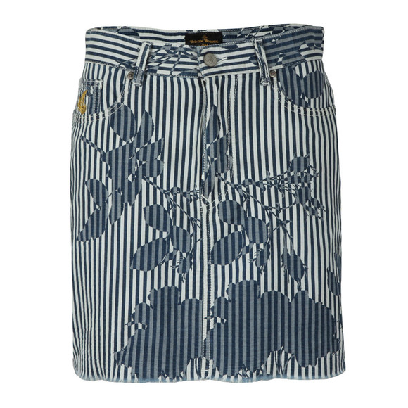 Vivienne Westwood Anglomania Womens Blue Table Skirt