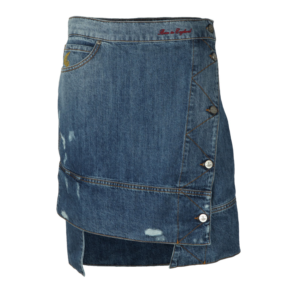 Liz Ripped Denim Skirt main image