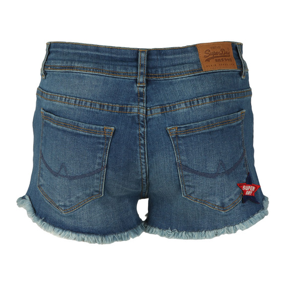 Superdry Womens Blue Denim Hot Short main image