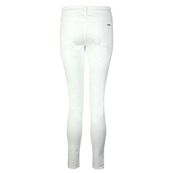 Michael Kors Womens White Selma Skinny Garment Dyed Jean main image