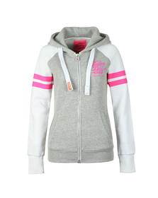 Superdry Womens Grey Real Vintage Irisdecent Zip Hoody