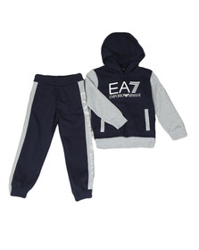 EA7 Emporio Armani Boys Blue Two Tone Tracksuit