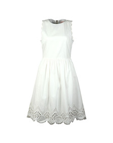 Ted Baker Womens White Pipsa Embroidered Skater Dress