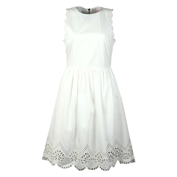 Ted Baker Womens White Pipsa Embroidered Skater Dress main image