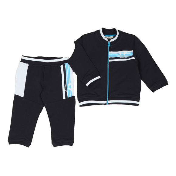 Armani Baby Boys Blue 3ZHV02 Zip Track Suit main image