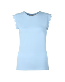 Ted Baker Womens Blue Scallop Detail Fitted Tee