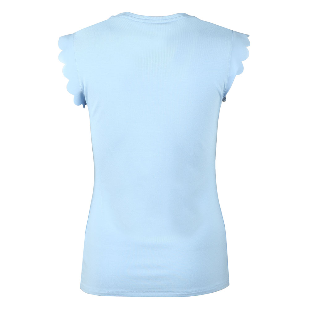 Elliah Scallop Detail Fitted Tee main image