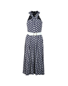 Michael Kors Womens Blue Simple Dot Dress