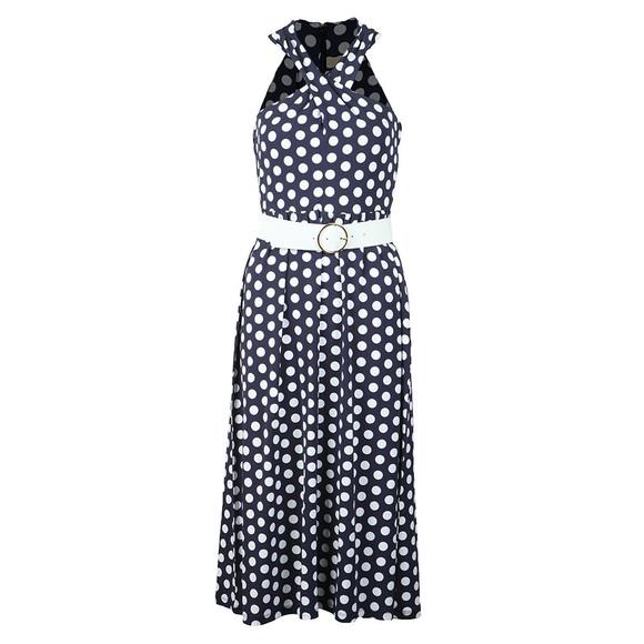 Michael Kors Womens Blue Simple Dot Dress main image