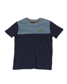 Lyle And Scott Junior Boys Blue Yoke T Shirt