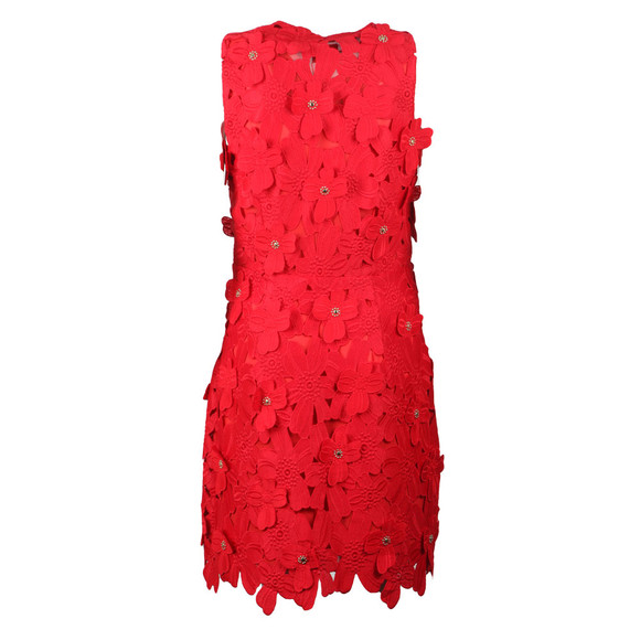 Michael Kors Womens Red Floral Lace Dress main image