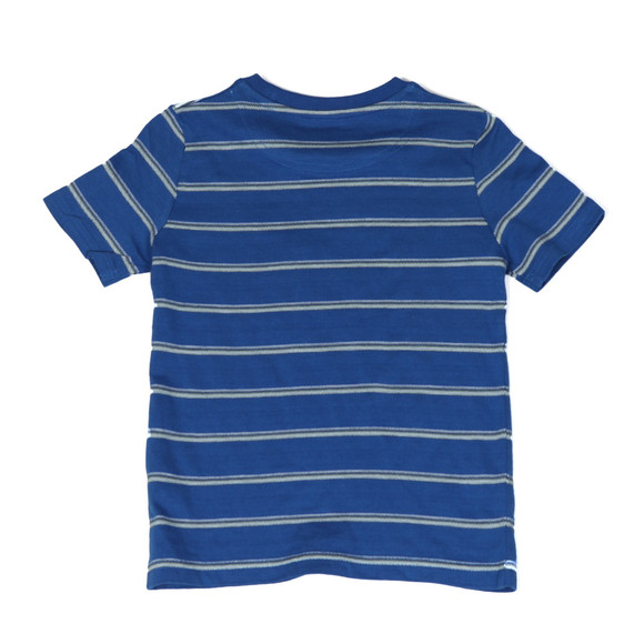 Lyle And Scott Junior Boys Blue Birdseye Stripe T Shirt main image