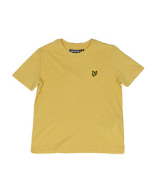 Lyle And Scott Junior Boys Yellow Plain Crew T Shirt