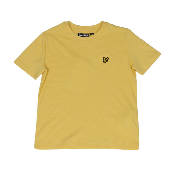 Lyle And Scott Junior Boys Yellow Plain Crew T Shirt main image