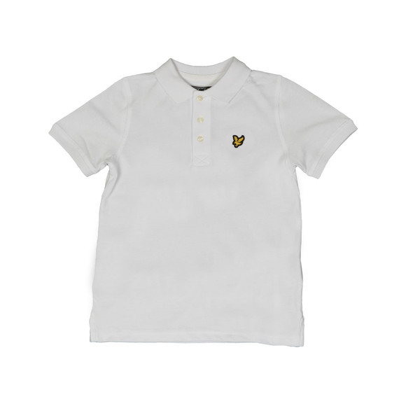 Lyle And Scott Junior Boys White Classic Marl Polo Shirt main image