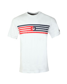 Fila Mens White Bruno Panelled Tee