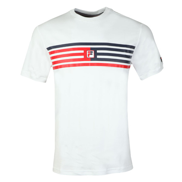 Fila Mens White Bruno Panelled Tee main image